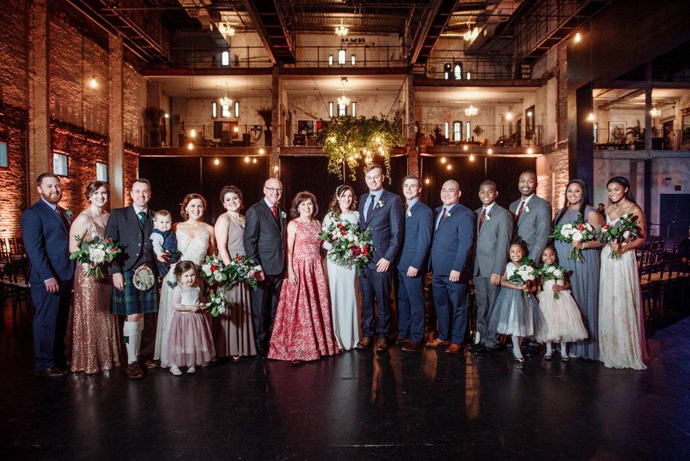 large family portrait at Aria wedding minneapolis