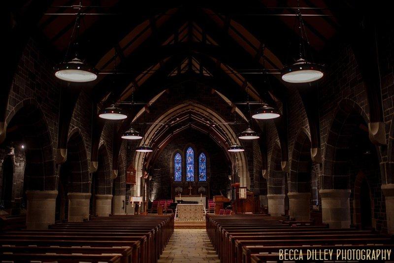 interior - Minneapolis wedding at St Stephens Church, edina
