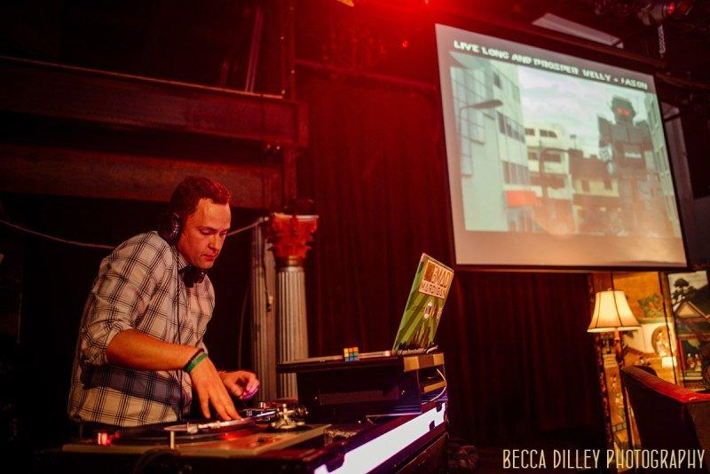 DJ Mad Mardigan on stage for wedding reception