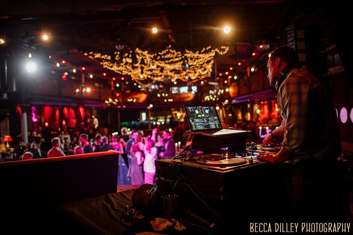 DJ Mad Mardigan spins for this wedding reception