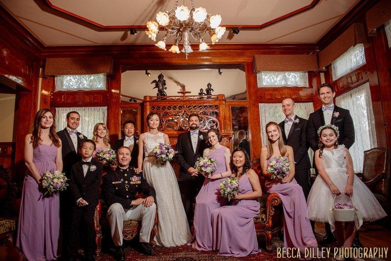 Wedding party flash composite Van Dusen Mansion Wedding Minneapolis
