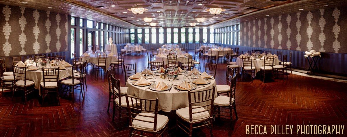 interior panorama of reception space at Van Dusen Mansion Wedding Minneapolis