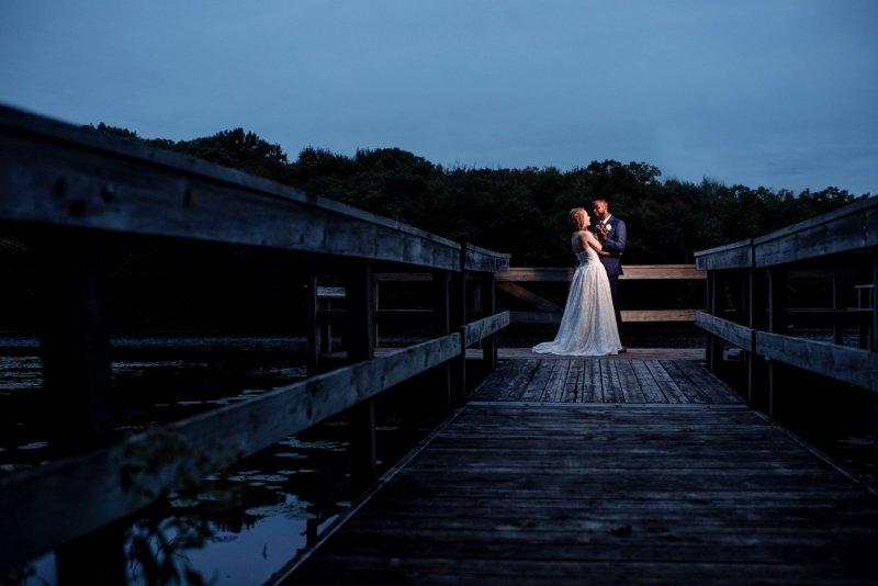 minneapolis camp wedding at night