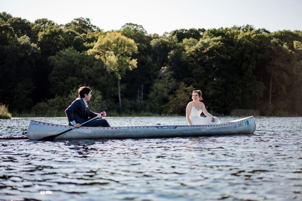 minnesota camp wedding photographer at Voyegeur