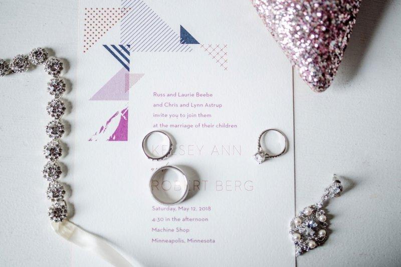 Machine shop wedding paper details