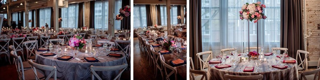 machine shop wedding reception details of tables