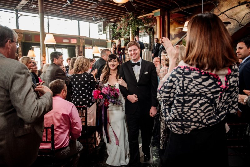 newly married loring restaurant wedding