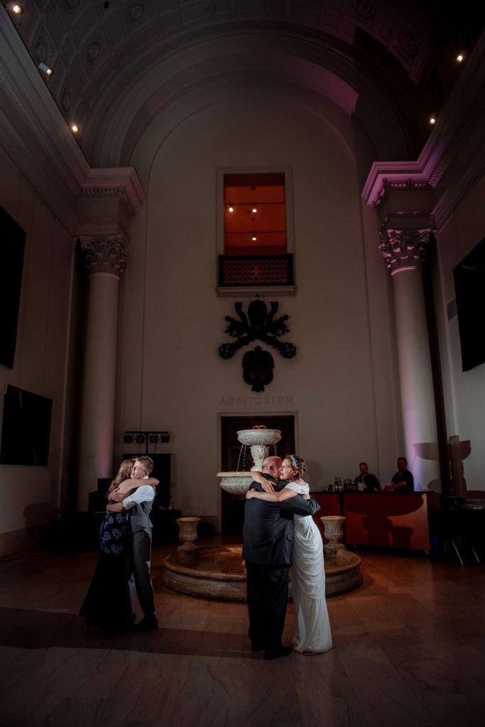 dancing at the Minneapolis Institute of Art wedding