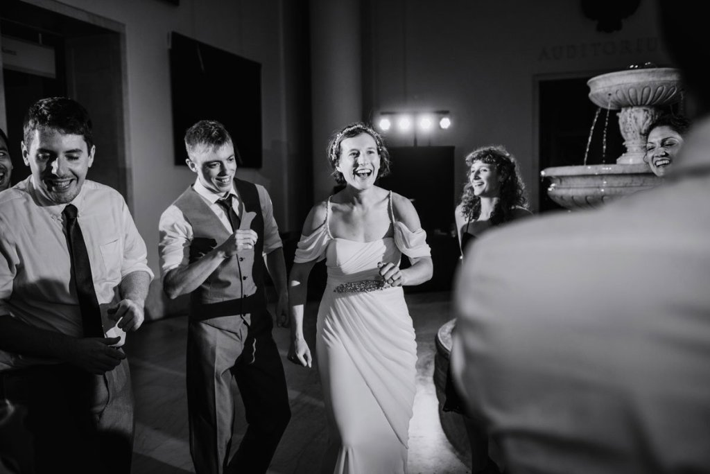 dancing at Minneapolis Institute of Art wedding mia