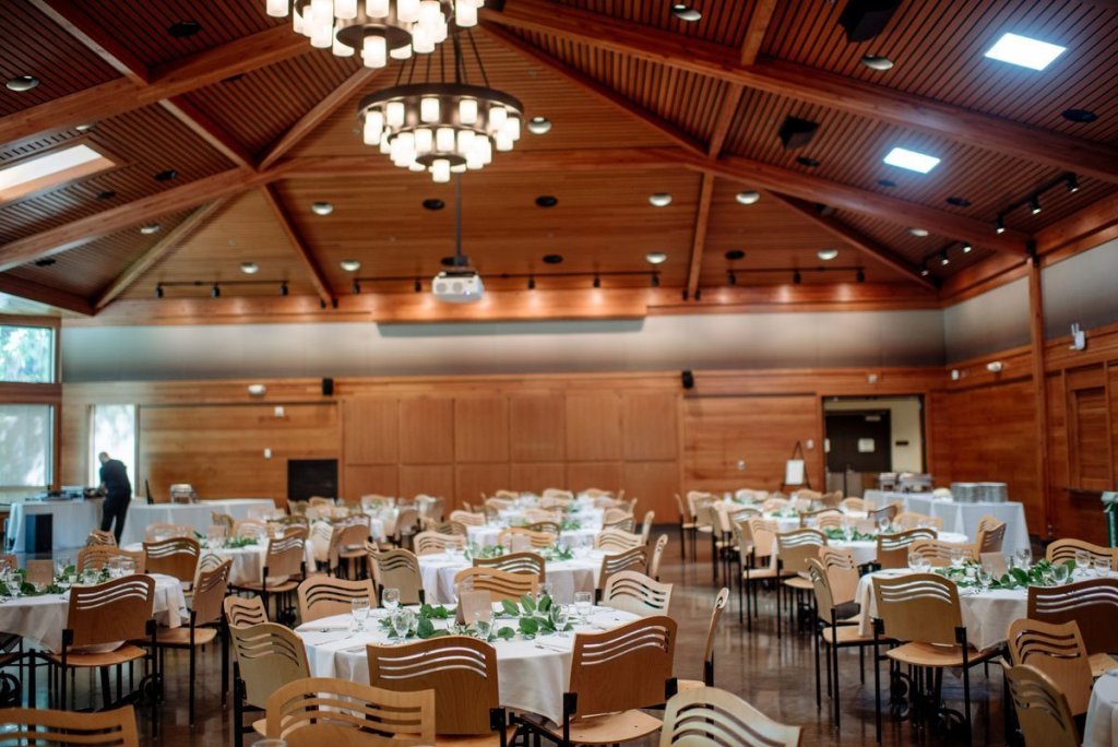 interior of reception space at silverwood park wedding mn