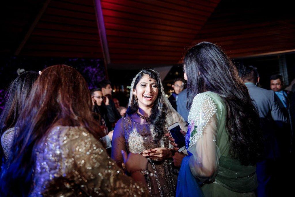 bride with sari at McNamara center Minneapolis