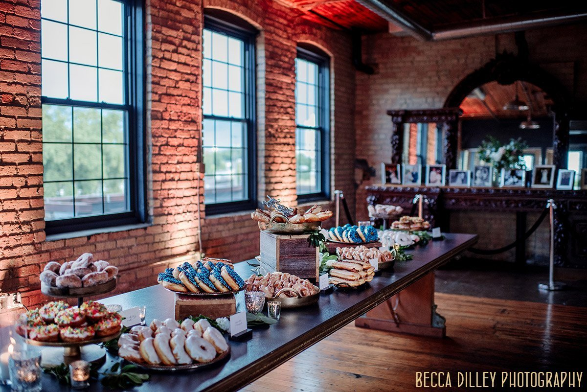doughnuts set up  solar arts wedding reception