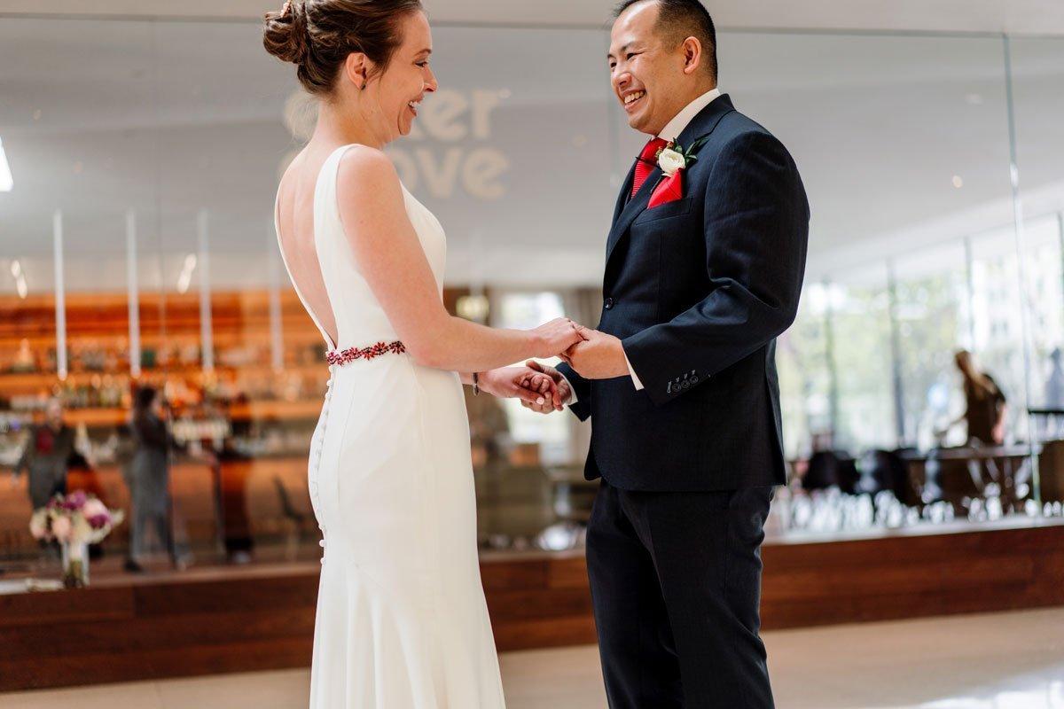 first look at walker art center wedding