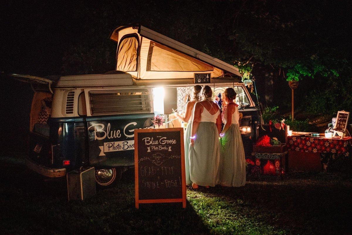 photo booth inside trailer voyageur wedding environmental center mn
