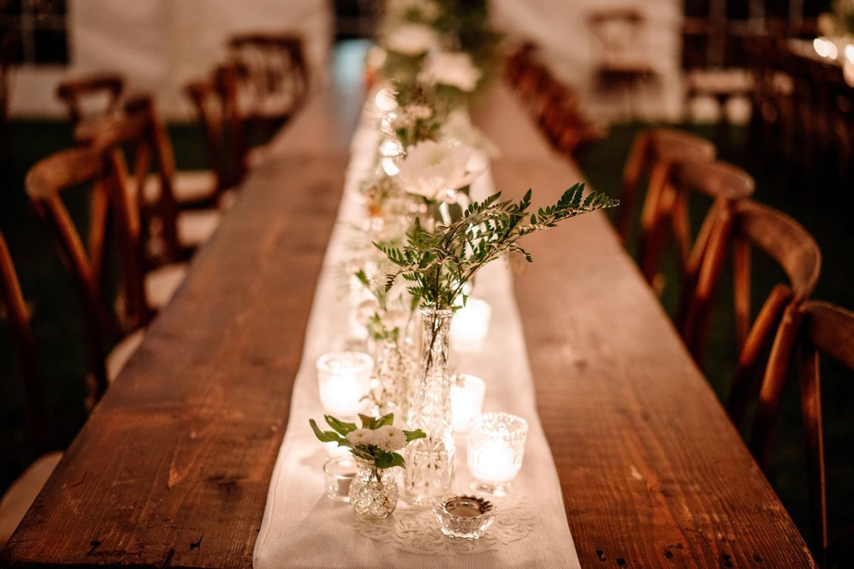candles on tables voyageur wedding environmental center mn