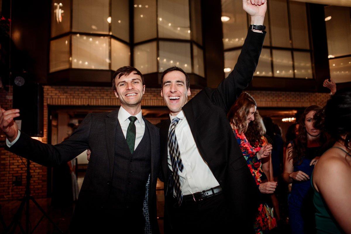 dancing gets wild lumber exchange wedding minneapoils