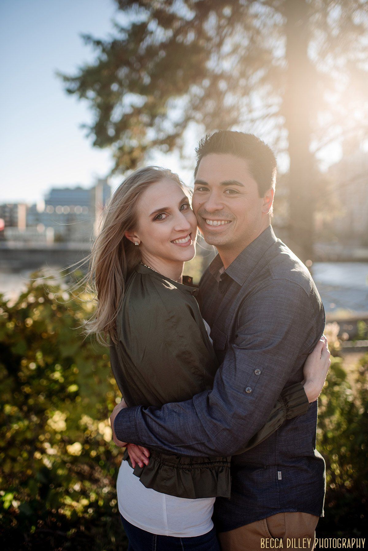 fun engagement photo ideas minneapolis st anthony main