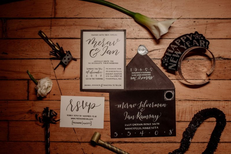 details of New Years Eve wedding
