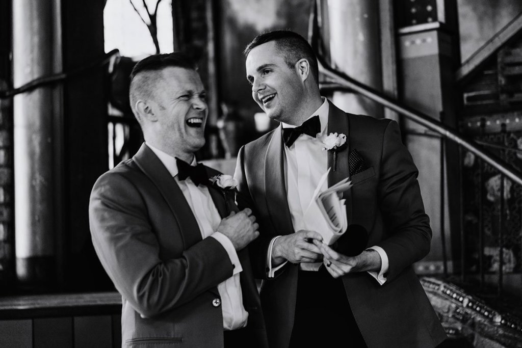 laughing during toasts loring restaurant wedding minneapolis