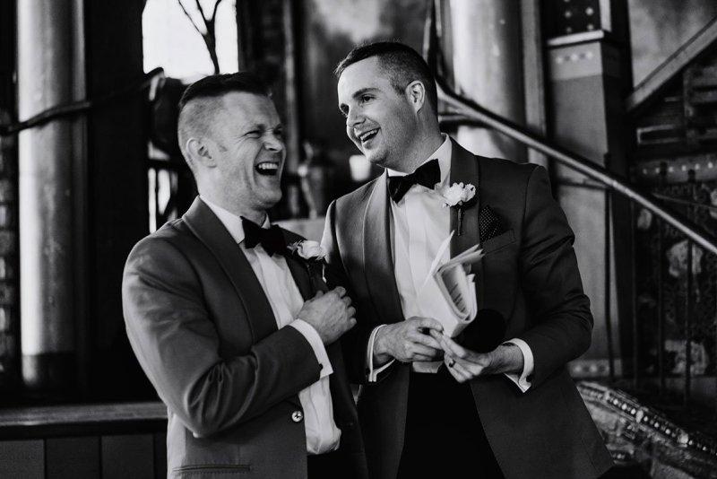 laughing during toasts loring restaurant wedding minneapolis