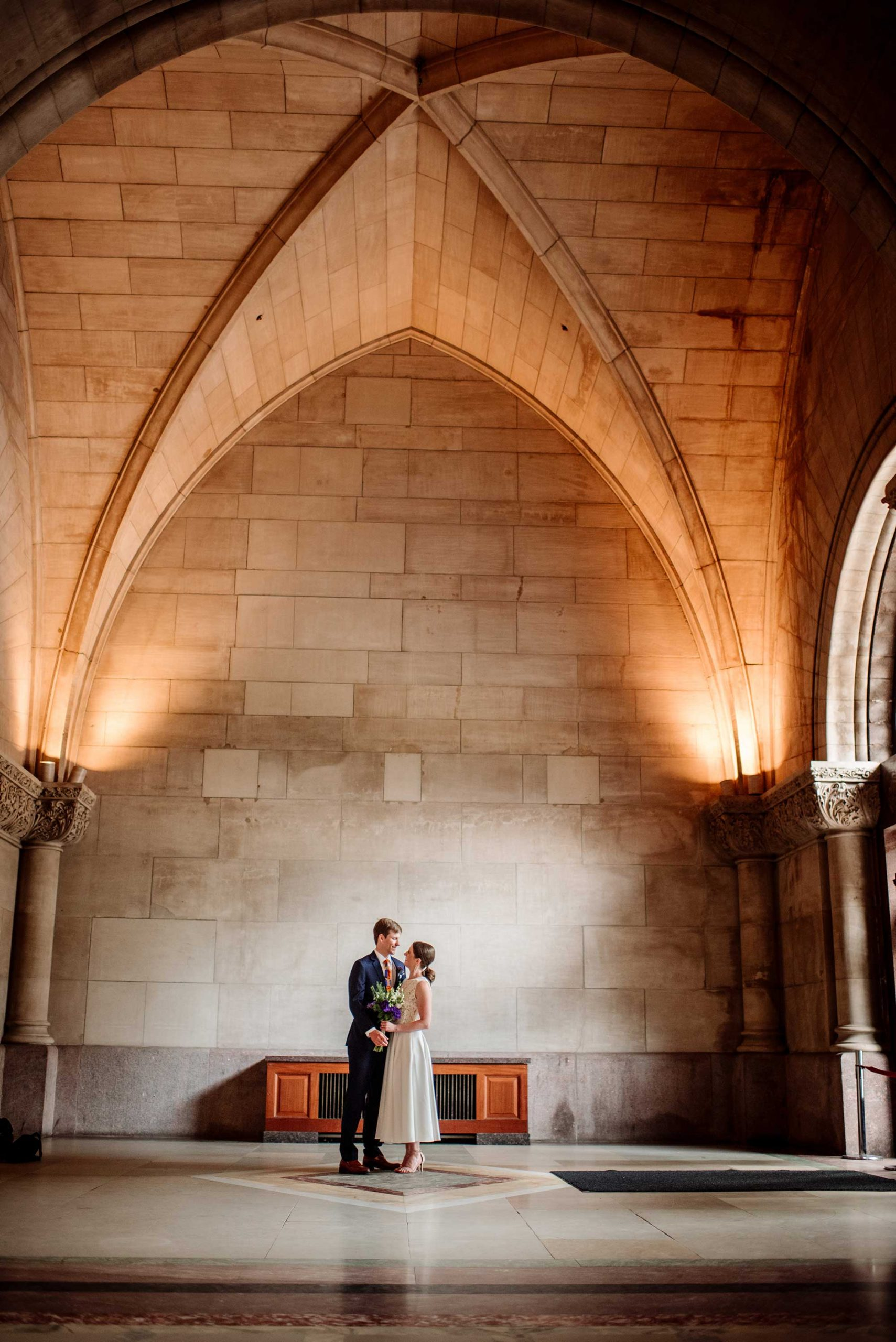 archetecture inside Minneapolis city hall wedding