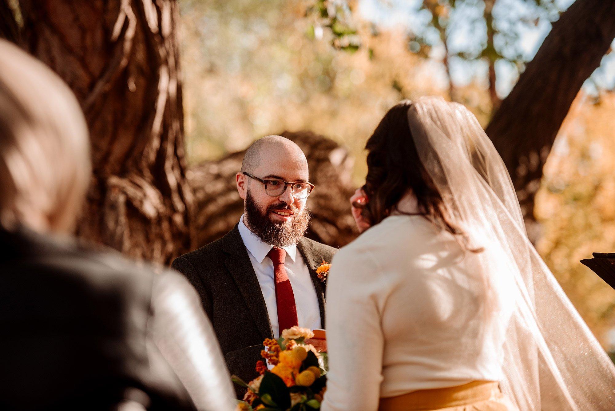 Minneapolis elopement ceremony at park