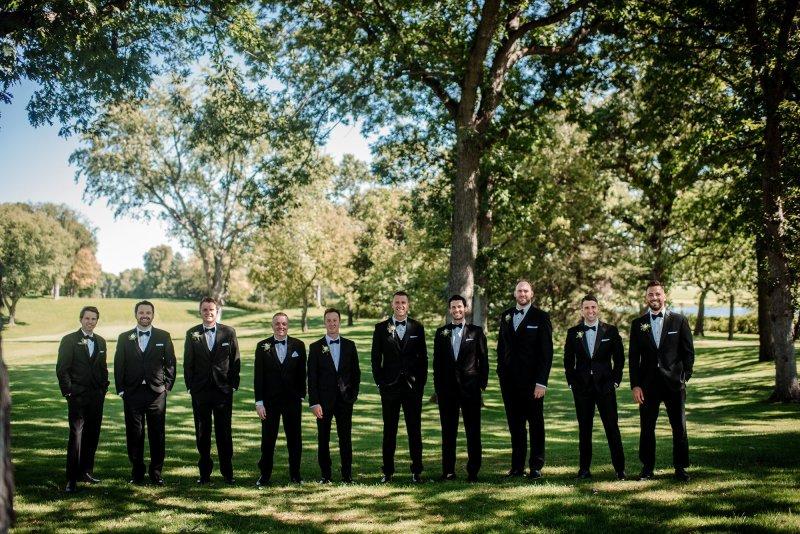 groomsmen at interlachen country club