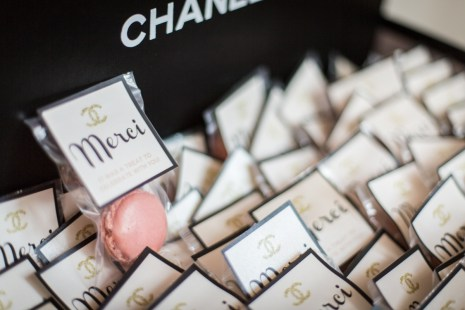 Gift tags to match the occasion at this Chanel Inspired Birthday Event