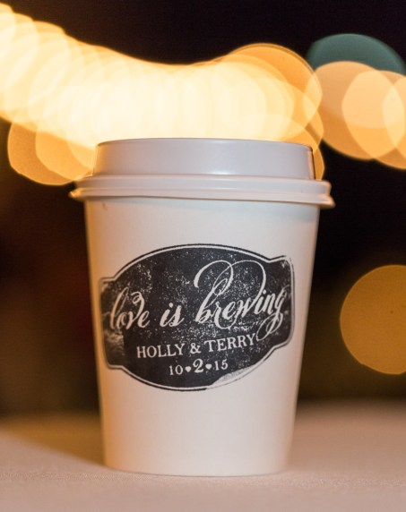 Custom Wedding Day Stamp to adorn our coffee cups