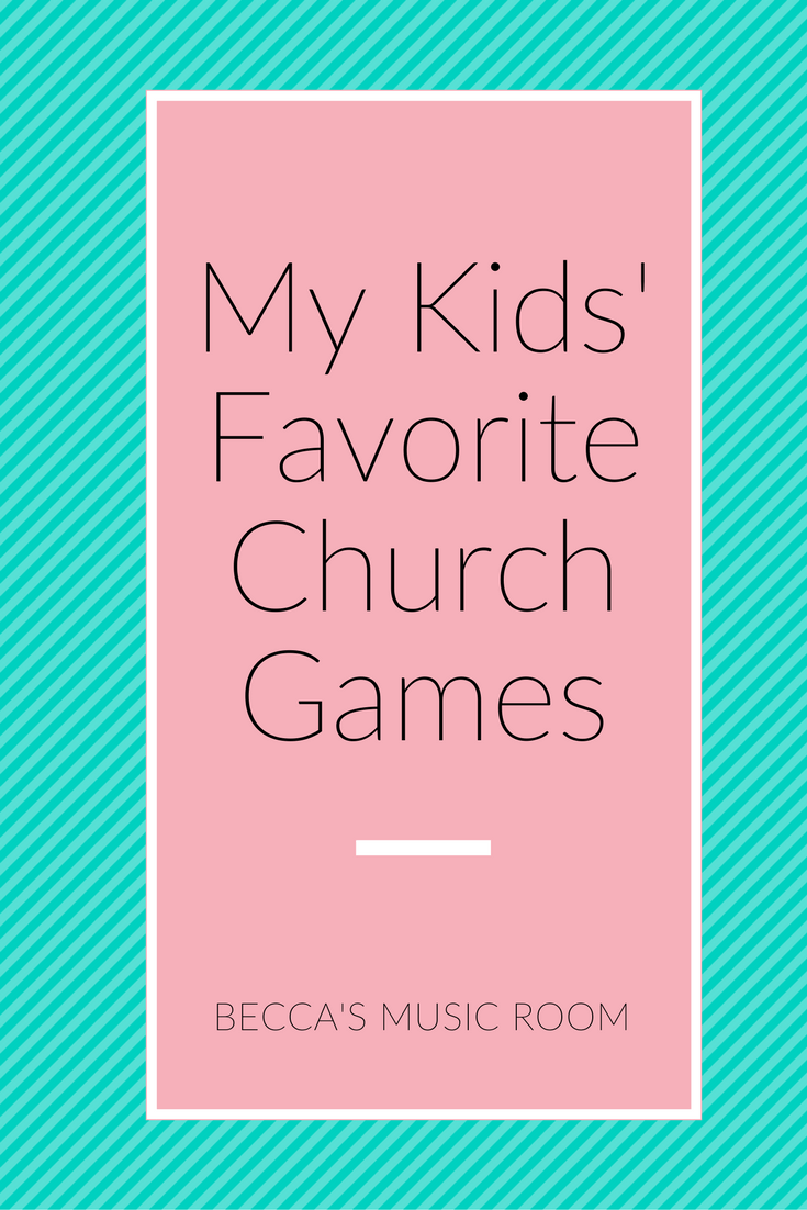 My Kids' Favorite church Games. What we play in Children's Church to help us take up time or energy! These could work for Children's Church, Sunday School, Awanas, homeschool group, elementary schools, etc! Becca's Music Room