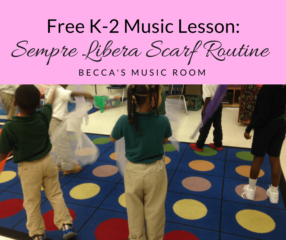 Free K-2 Music Lesson: Sempre Libera Scarf Routine. Becca's Music Room. A fun scarf routine to help teach my kindergarteners, 1st graders, and 2nd graders about opera. This piece is from La Traviata. Super fun opera scarf lesson!