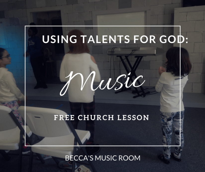 Free Church Lesson: Using Talents for God-- Music. Conversation based lesson for teaching students how they can use all of their talents for God-- even beyond the most obvious ways. Works with children's church, sunday school, and youth group. Becca's Music Room