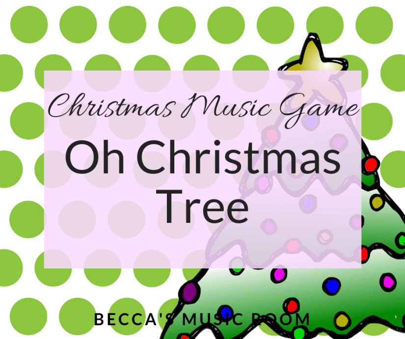 Christmas Music Game: Oh Christmas Tree. Super silly and fun game for the song Oh Christmas Tree or Oh Tannenbaum. Includes a free lyric sheet and Christmas coloring sheet! Becca's Music Room