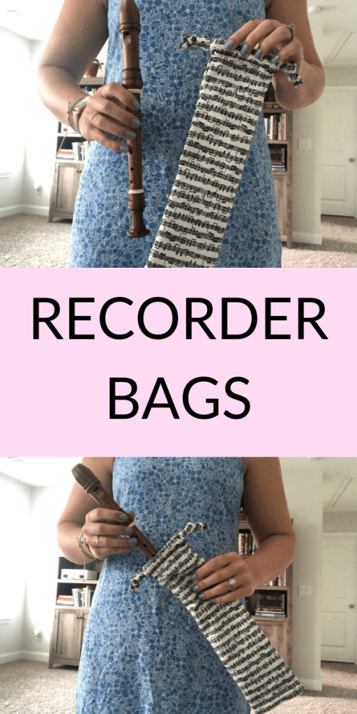 Soprano recorder bags for elementary music teachers or music students learning to play recorder from Becca's Music Room on Etsy. Perfect gift for a music lover!