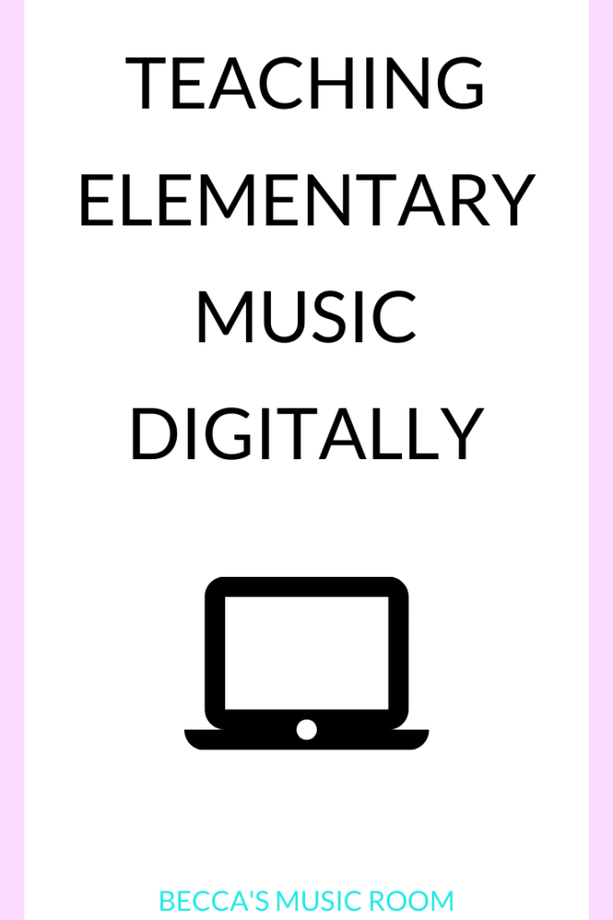Teaching elementary music digitally? Now that we've been teaching music online, I know it's possible! Get ideas for digital elementary music lessons. Becca's Music Room