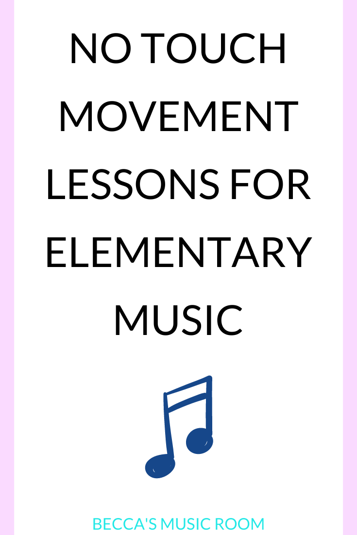 Need ideas for teaching elementary music without singing? Students need movement lessons! This list includes ideas for movement lessons for general music, so that you can teach music without singing! Becca's Music Room