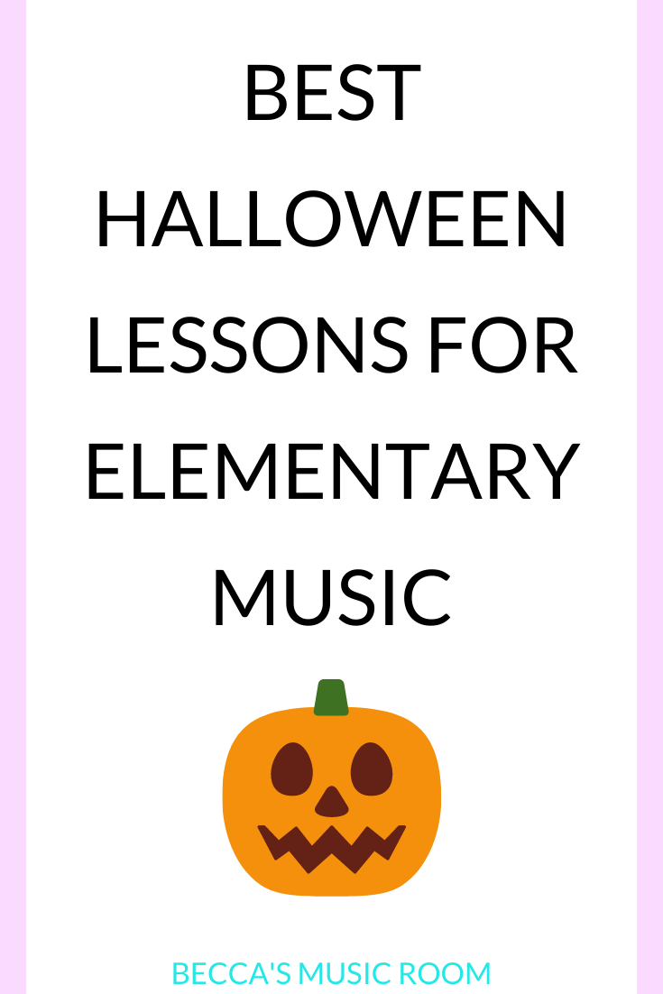 Best Halloween Lessons for Elementary Music Need fun, engaging general music lessons for Halloween? These Fall October themed music activities are fun for first, second, third, fourth, and fifth grade. Becca's Music Room