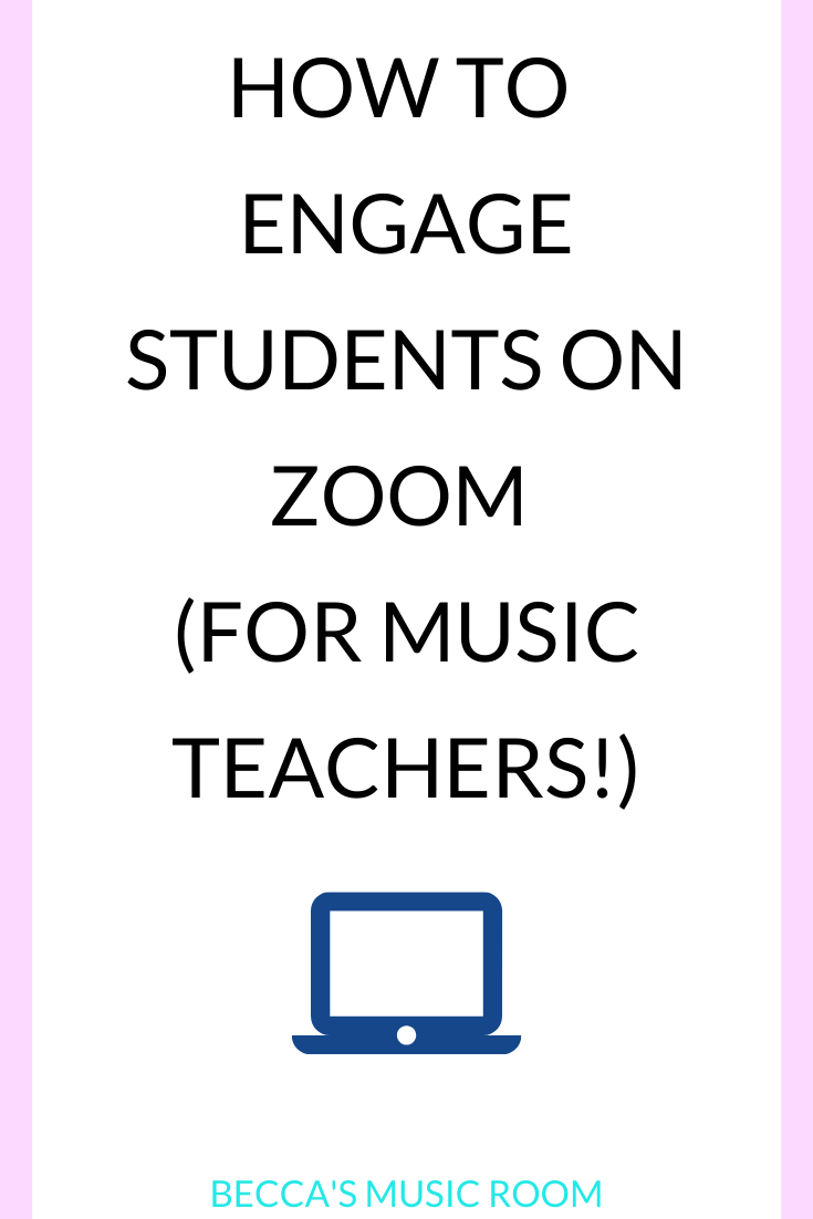 How to engage students during distance learning-- even in elementary music! This post talks about teaching music digitally and having students engaged. We talk about music lessons for fourth and fifth grades, as well as tips and tricks for teaching music on zoom. Becca's Music Room