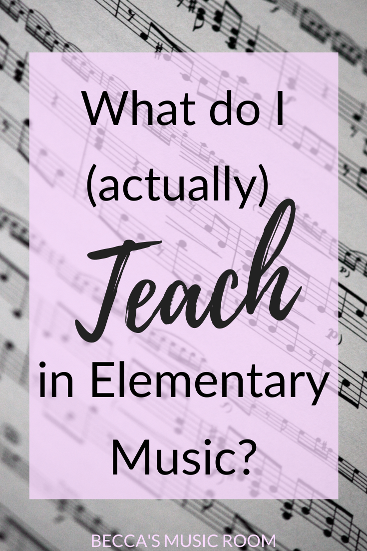 What do I teach in elementary music? If you're a first year elementary music teacher, you may be looking for help with what to teach and when-- also known as a sequence. How do you come up with your sequence? What should your sequence be? We're going over everything in this blog post. Becca's Music Room