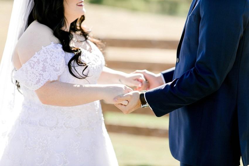 Navy and Blush Fall Wedding (Krum, Texas) | Becca Sue Photography - www.beccasuephotography.com