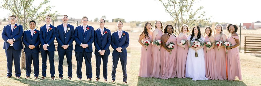 Navy and Blush Fall Wedding (Krum, Texas) | Becca Sue Photography - www.beccasuephotography.com