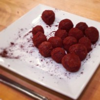 Chocolate goat cheese truffles..yes please!