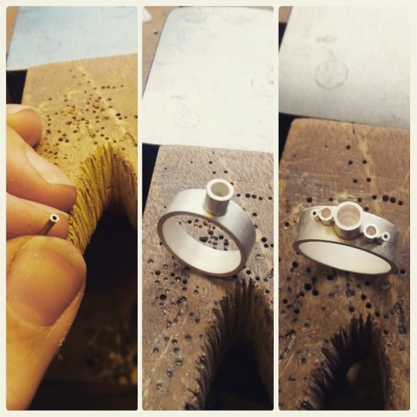 Making  Topaz and Silver Eternity Ring by Becca Williams