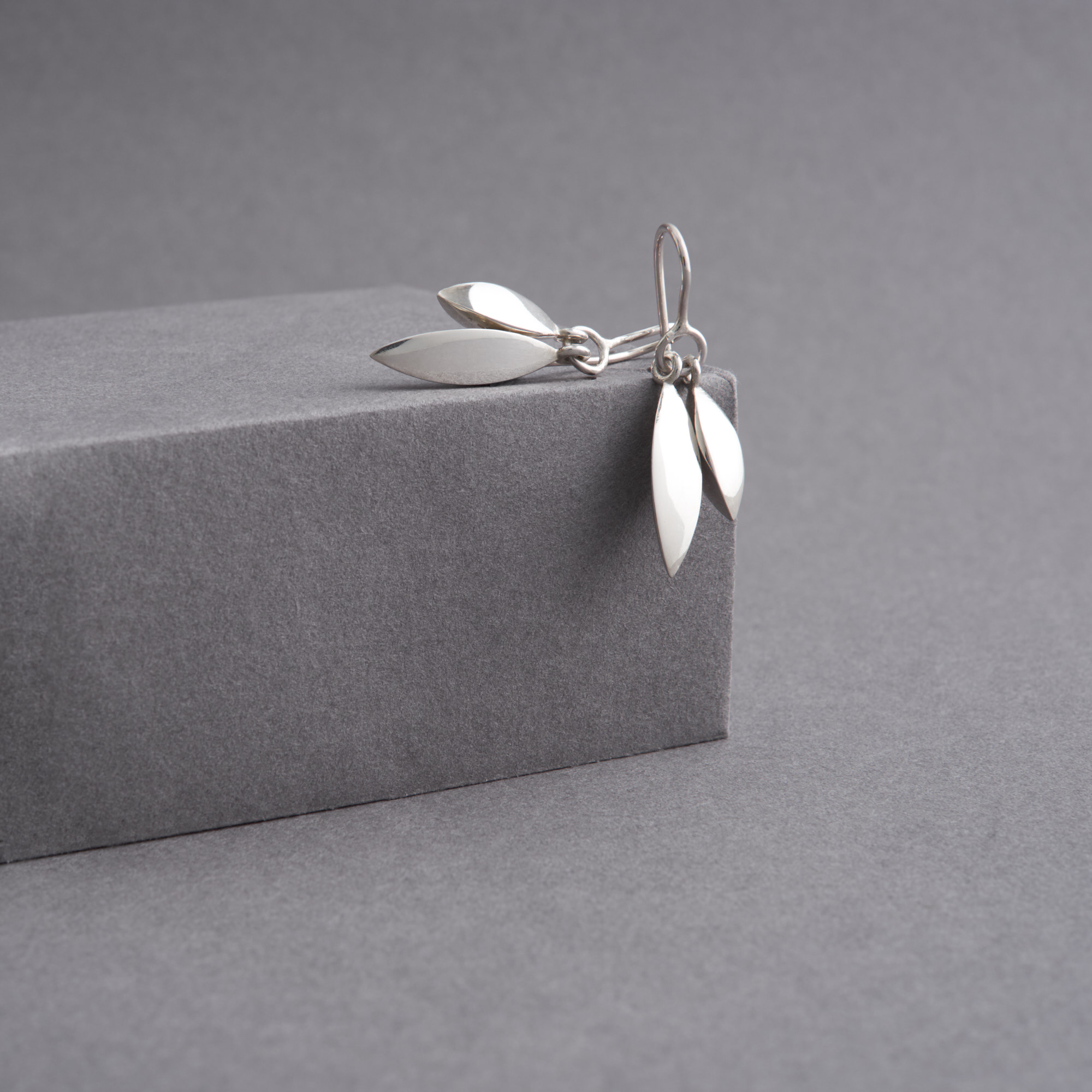 Tidal Drop Earrings, Polished