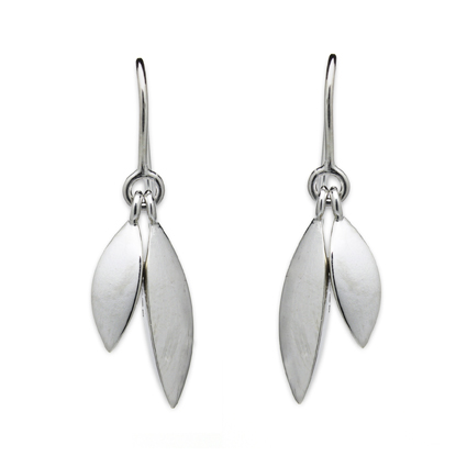 Polished Tidal Double Drop Earrings