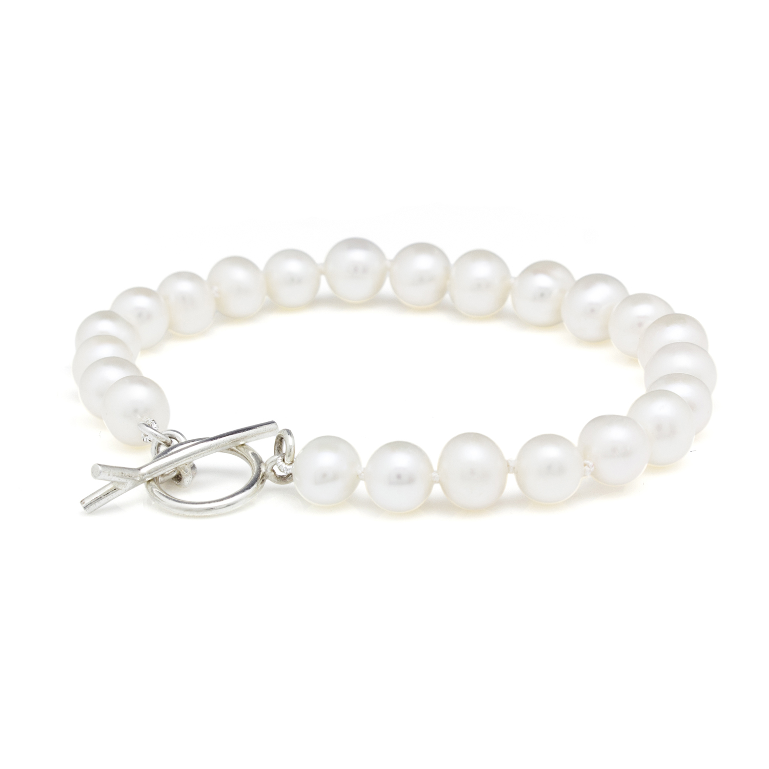 Pearl Bracelet with silver catch
