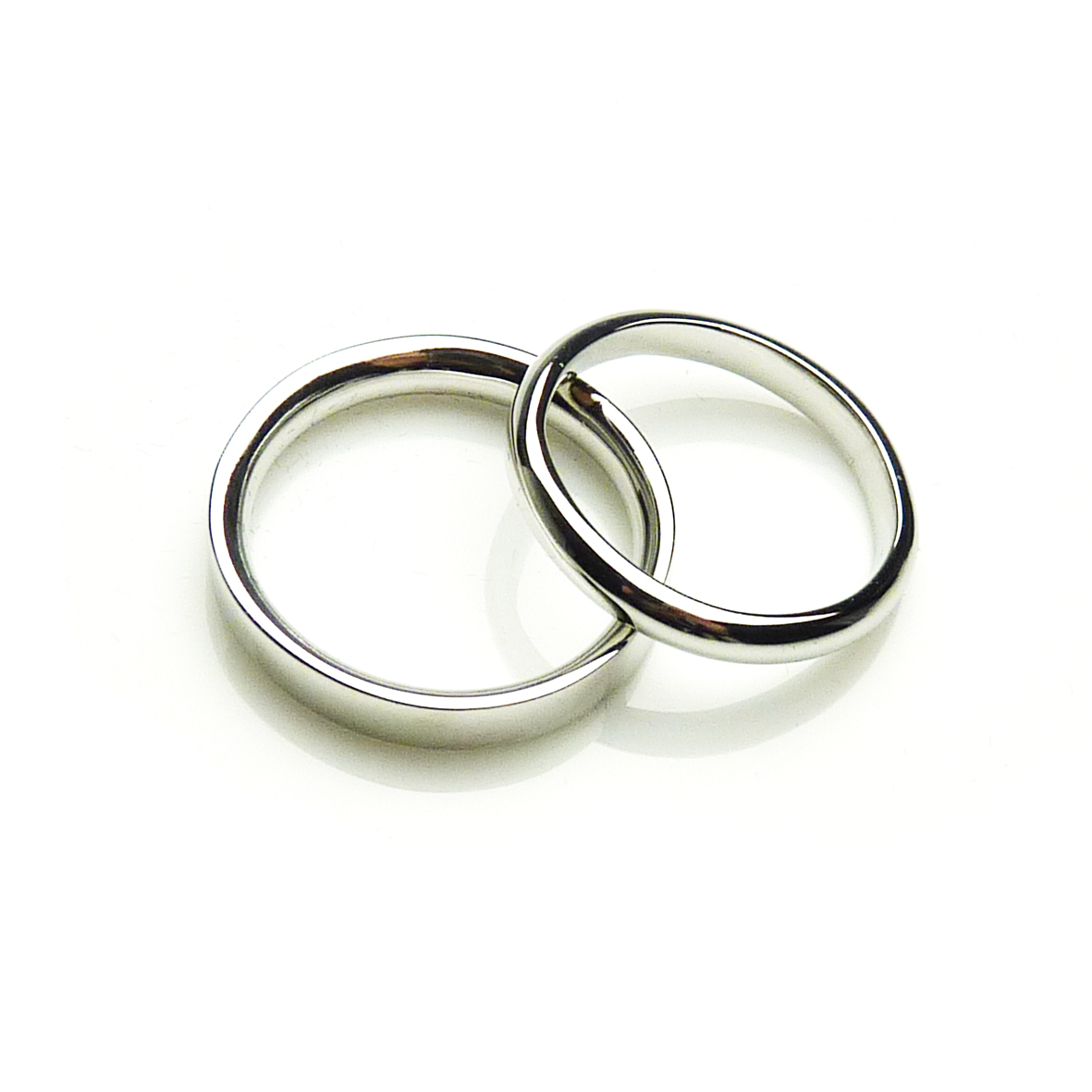 Debbie and Jamie's 9ct White Gold Rings