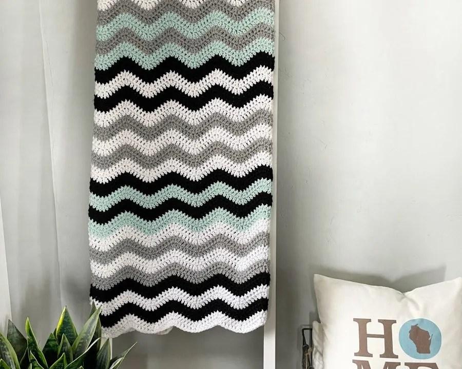 Crochet Blanket Pattern: Attic24 Neat Ripple, My version