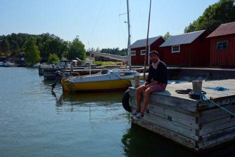 Det sista vi såg av Sverige innan vi lämnade var Stockholms skärgård.