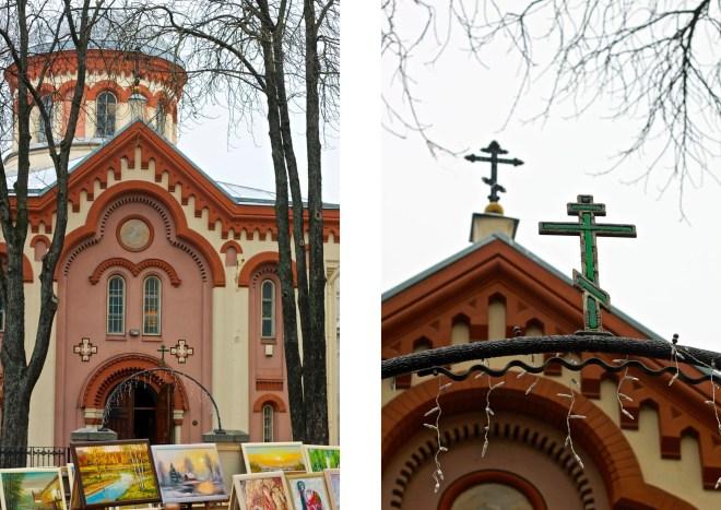 Konst och kyrkor, en väldigt bra bild av gamla stan i Vilnius.